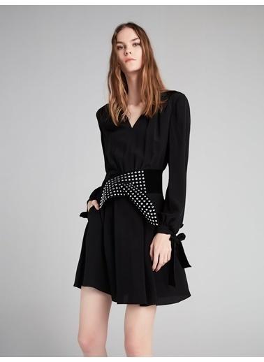 Bağcık Kol Kemerli Elbise-Ipekyol